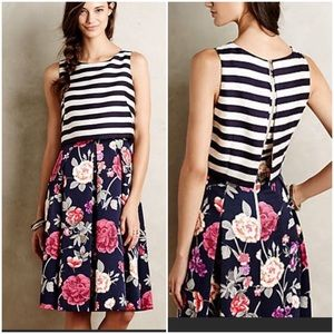 Anthro Moulinette Soeurs Split Print Floral Dress